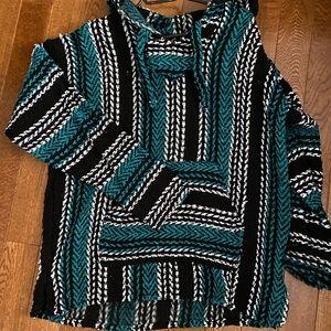 Boho hooded pullover